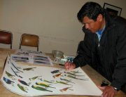 Oscar Tintaya, illustrator for the Birds of Bolivia Field Guide